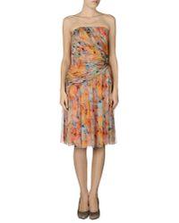 Blugirl Blumarine | Red Knee-length Dress | Lyst