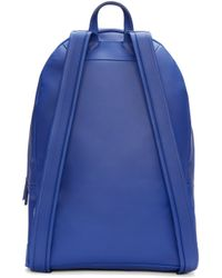 PB 0110 - Blue Leather Ca 6 Backpack - Lyst