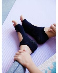Free People - Black Toesox Womens Lace Namaste Yoga Sock - Lyst