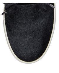 Tory Burch - Black Calf Hair Platform Sneaker - Lyst