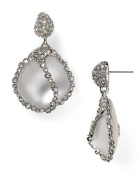 Alexis Bittar - Metallic Lucite Crystal Caged Pebble Post Earrings - Lyst