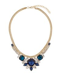 Mikey - Blue Red Indian Pendant Flat Rope Necklace - Lyst