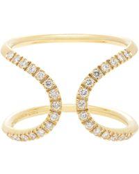 Roberto Marroni - Metallic 18kt Yellow Gold Ring With White Diamonds - Lyst