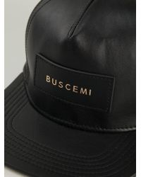 Buscemi - Black Logo Patch Cap for Men - Lyst