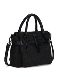 Elliott Lucca - Black Iara Leather Midi Satchel - Lyst