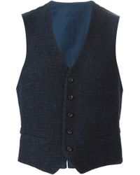 Tonello - Blue Tweed Waistcoat for Men - Lyst