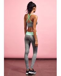 Missguided - Gray Active Contrast Waistband Gym Leggings Grey - Lyst