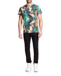 ELEVEN PARIS | Blue Ocean Palm Print T-shirt for Men | Lyst