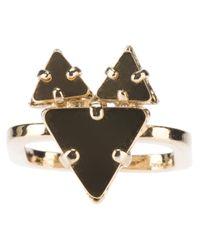 Sabrina Dehoff - Metallic Fox Plates Ring - Lyst