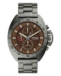 Fossil - Gray 'breaker' Chronograph Bracelet Watch - Lyst