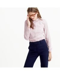 J.Crew | Pink Collection Thomas Mason Club-collar Shirt In Dress Stripe | Lyst