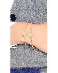 Sarah Chloe - Metallic Ella Engraved Adjustable Bracelet - Lyst