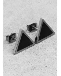 & Other Stories | Black Triangle Stud Earrings | Lyst