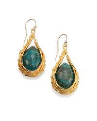 Alexis Bittar | Metallic Elements Maldivian Chrysocolla Nested Feather Drop Earrings | Lyst