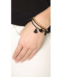 Shashi | Orange Lilu Ball Bracelet | Lyst