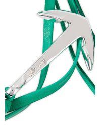 Miansai - Green Anchor Leather Wrap Bracelet for Men - Lyst