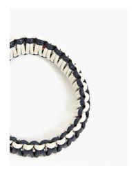 Miansai | Gray Cream Dual Tone Rope Mooring Bracelet for Men | Lyst