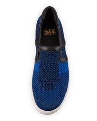 Ash - Blue Jeday Knit Slip-on Sneaker - Lyst