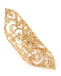 Ela Stone | Metallic 'dentelle' Lace Filigree Ring | Lyst