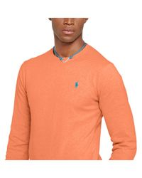 Polo Ralph Lauren | Orange Slim-fit Pima Cotton Sweater for Men | Lyst