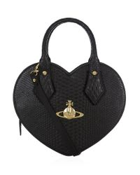 Vivienne Westwood Black Frilly Snake Heart Bag