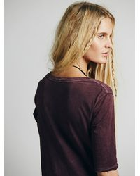 Free People - Purple Melrose Swing Tee - Lyst