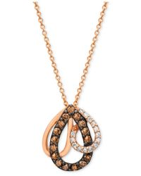 Le Vian | Brown Petite Chocolate Diamond (1/3 Ct. T.w.) Pendant In 14k Rose Gold | Lyst