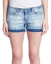 Jessica Simpson | Blue Frayed Denim Shorts | Lyst