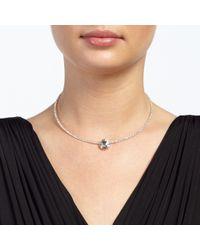 John Lewis - Metallic Skinny Choker Diamante Stone Necklace - Lyst