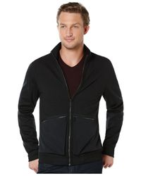 Perry Ellis | Gray Mixed Media Jacket for Men | Lyst