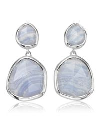 Monica Vinader | Blue Siren Medium Drop Earrings | Lyst