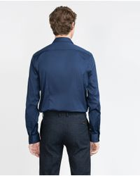 Zara | Blue Stretch Shirt for Men | Lyst