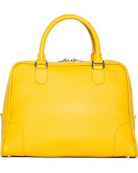 Loewe | Amazona 75 Large Bag, Women's, Yellow | Lyst