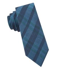 Calvin Klein | Blue Textured Tie for Men | Lyst