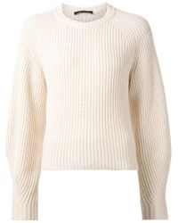 The Row - White Chunky Ribbed Sweater - Lyst