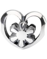 Trollbeads | Metallic Sterling Silver Crystal Heart Bead | Lyst
