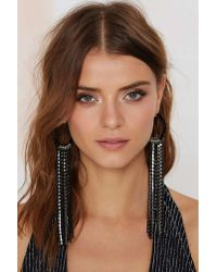 Nasty Gal - Metallic Chasing Pavã©ments Fringe Earrings - Lyst