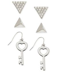 Guess | Metallic Silver-tone Earring Set | Lyst