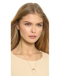 Rachel Zoe - Metallic Mia Sphere Crescent Necklace - Gold - Lyst