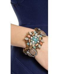 Deepa Gurnani | Multicolor Crystal Cuff Bracelet | Lyst