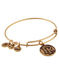 ALEX AND ANI | Metallic University Of Rhode Island Logo Charm Bangle | Lyst