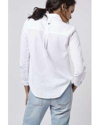 TOPSHOP | White Petite Chambray Shirt | Lyst