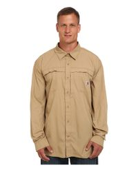 Carhartt | Natural Big & Tall Force Mandan Solid L/s Woven for Men | Lyst