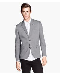 H&M | Gray Marled Jacket for Men | Lyst