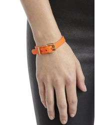 Marc By Marc Jacobs - Orange Buckled Rubber Bracelet - Lyst