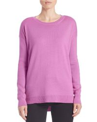 Lord & Taylor | Purple Petite Merino Wool Crewneck Sweater | Lyst
