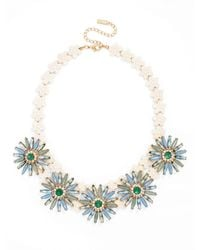 BaubleBar - Blue Flower Power Collar - Lyst
