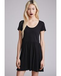 f2d6f98249 Forever 21. Women s Black Raw-edged Smock Dress You ve Been Added To The  Waitlist