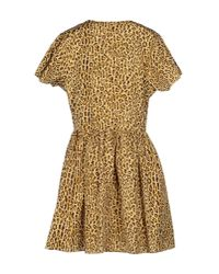 Opening Ceremony - Natural Short Dress - Lyst