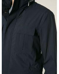 Z Zegna - Blue Short Zipped Rain Coat for Men - Lyst